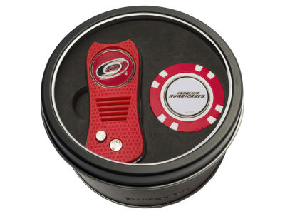 Carolina Hurricanes Team Golf Tin Gift Set w/ Switchfix Divot Tool and Golf Chip