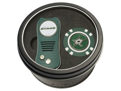Dallas Stars Team Golf Tin Gift Set w/ Switchfix Divot Tool and Golf Chip