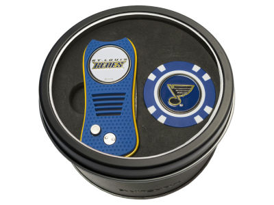 St. Louis Blues Team Golf Tin Gift Set w/ Switchfix Divot Tool and Golf Chip