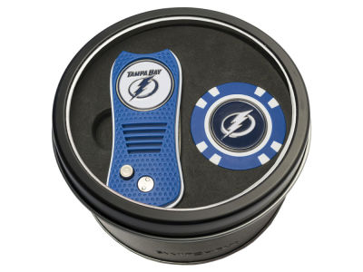 Tampa Bay Lightning Team Golf Tin Gift Set w/ Switchfix Divot Tool and Golf Chip