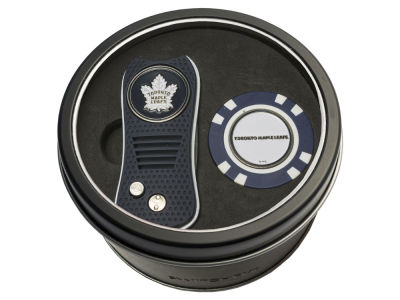 Toronto Maple Leafs Team Golf Tin Gift Set w/ Switchfix Divot Tool and Golf Chip