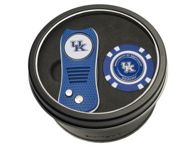 Kentucky Wildcats Team Golf Tin Gift Set w/ Switchfix Divot Tool and Golf Chip