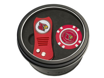 Louisville Cardinals Team Golf Tin Gift Set w/ Switchfix Divot Tool and Golf Chip