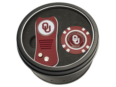 Oklahoma Sooners Team Golf Tin Gift Set w/ Switchfix Divot Tool and Golf Chip