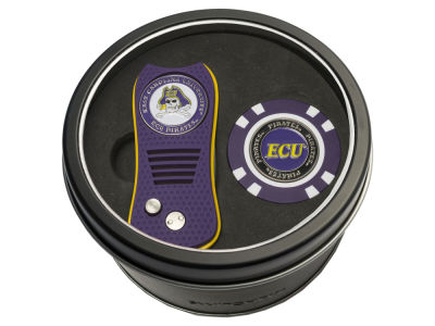 East Carolina Pirates Team Golf Tin Gift Set w/ Switchfix Divot Tool and Golf Chip