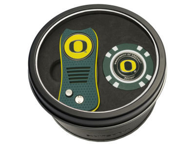 Oregon Ducks Team Golf Tin Gift Set w/ Switchfix Divot Tool and Golf Chip