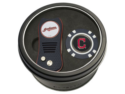 Cleveland Indians Team Golf Tin Gift Set w/ Switchfix Divot Tool and Golf Chip