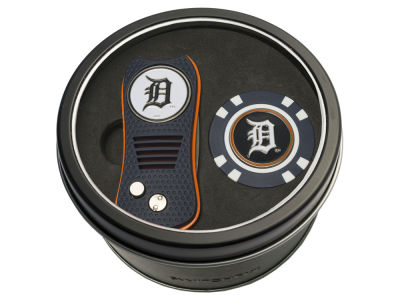 Detroit Tigers Team Golf Tin Gift Set w/ Switchfix Divot Tool and Golf Chip