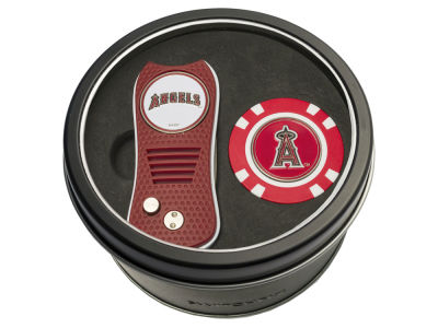 Los Angeles Angels Tin Gift Set w/ Switchfix Divot Tool and Golf Chip