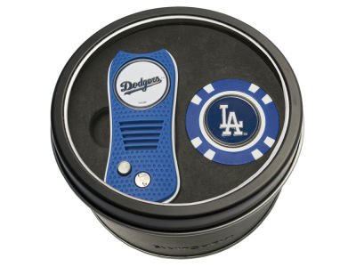Los Angeles Dodgers Team Golf Tin Gift Set w/ Switchfix Divot Tool and Golf Chip