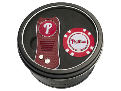 Philadelphia Phillies Team Golf Tin Gift Set w/ Switchfix Divot Tool and Golf Chip