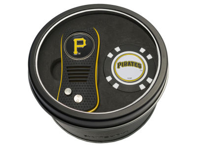 Pittsburgh Pirates Team Golf Tin Gift Set w/ Switchfix Divot Tool and Golf Chip