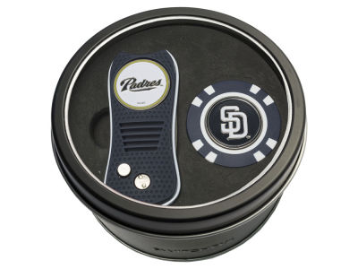 San Diego Padres Team Golf Tin Gift Set w/ Switchfix Divot Tool and Golf Chip