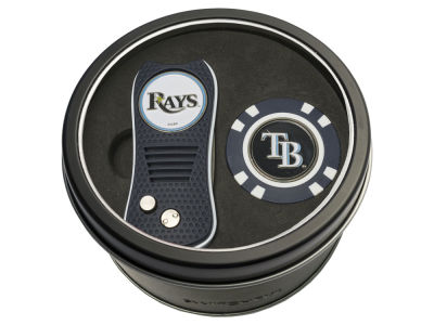 Tampa Bay Rays Team Golf Tin Gift Set w/ Switchfix Divot Tool and Golf Chip