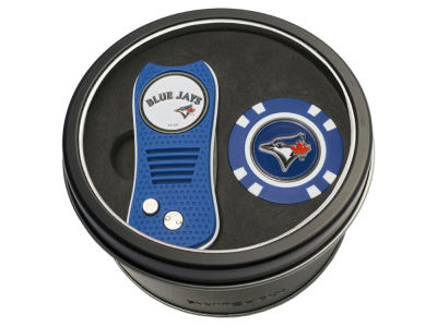 Toronto Blue Jays Team Golf Tin Gift Set w/ Switchfix Divot Tool and Golf Chip