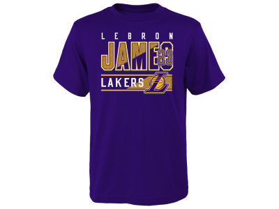 Los Angeles Lakers LeBron James Outerstuff NBA Youth Full Bench T-Shirt