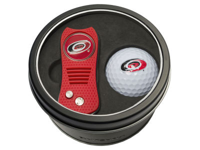 Carolina Hurricanes Team Golf Tin Gift Set w/ Switchfix Divot Tool and Golf Ball