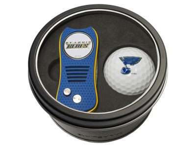 St. Louis Blues Team Golf Tin Gift Set w/ Switchfix Divot Tool and Golf Ball