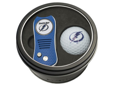 Tampa Bay Lightning Team Golf Tin Gift Set w/ Switchfix Divot Tool and Golf Ball