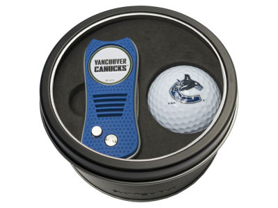 Vancouver Canucks Team Golf Tin Gift Set w/ Switchfix Divot Tool and Golf Ball