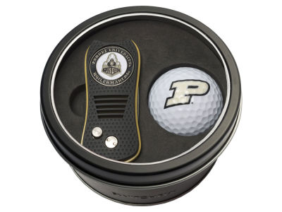 Purdue Boilermakers Team Golf Tin Gift Set w/ Switchfix Divot Tool and Golf Ball