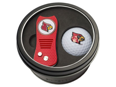 Louisville Cardinals Team Golf Tin Gift Set w/ Switchfix Divot Tool and Golf Ball