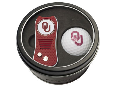 Oklahoma Sooners Team Golf Tin Gift Set w/ Switchfix Divot Tool and Golf Ball