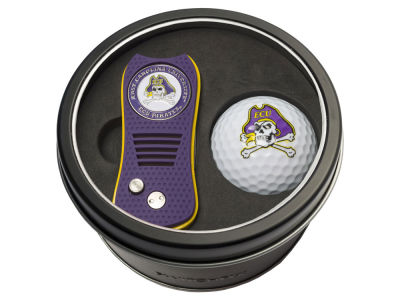 East Carolina Pirates Team Golf Tin Gift Set w/ Switchfix Divot Tool and Golf Ball