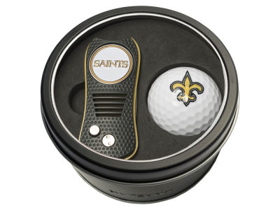New Orleans Saints Team Golf Tin Gift Set w/ Switchfix Divot Tool and Golf Ball