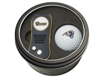 Los Angeles Rams Team Golf Tin Gift Set w/ Switchfix Divot Tool and Golf Ball
