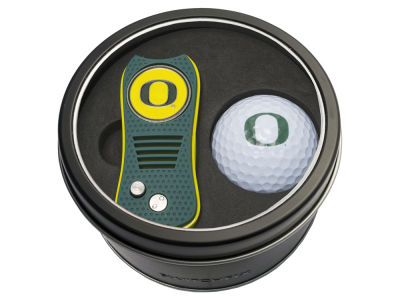 Oregon Ducks Team Golf Tin Gift Set w/ Switchfix Divot Tool and Golf Ball