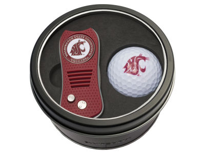 Washington State Cougars Team Golf Tin Gift Set w/ Switchfix Divot Tool and Golf Ball