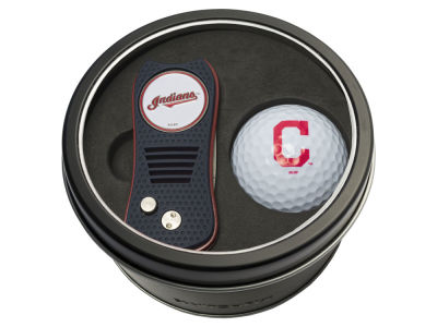 Cleveland Indians Team Golf Tin Gift Set w/ Switchfix Divot Tool and Golf Ball