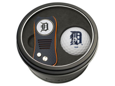 Detroit Tigers Team Golf Tin Gift Set w/ Switchfix Divot Tool and Golf Ball