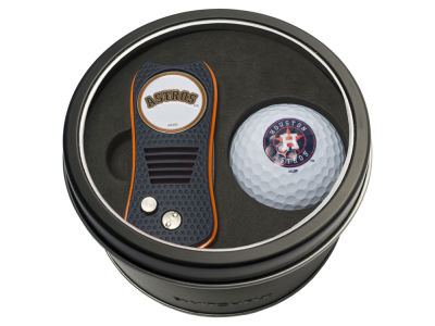 Houston Astros Team Golf Tin Gift Set w/ Switchfix Divot Tool and Golf Ball