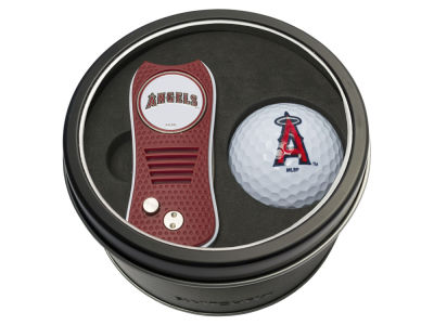 Los Angeles Angels Team Golf Tin Gift Set w/ Switchfix Divot Tool and Golf Ball