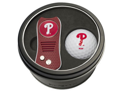 Philadelphia Phillies Team Golf Tin Gift Set w/ Switchfix Divot Tool and Golf Ball