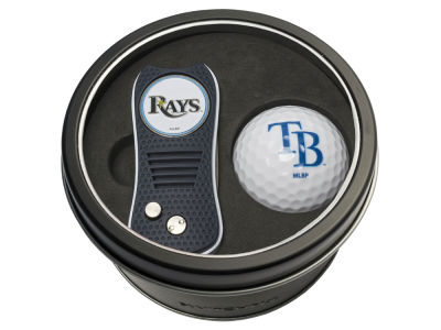 Tampa Bay Rays Team Golf Tin Gift Set w/ Switchfix Divot Tool and Golf Ball
