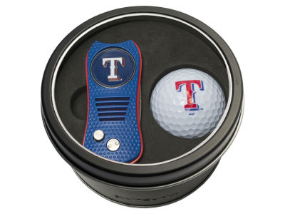 Texas Rangers Team Golf Tin Gift Set w/ Switchfix Divot Tool and Golf Ball