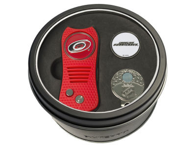 Carolina Hurricanes Team Golf Tin Gift Set w/ Divot Tool, Cap Clip, Ball Marker