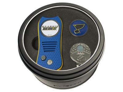 St. Louis Blues Team Golf Tin Gift Set w/ Divot Tool, Cap Clip, Ball Marker