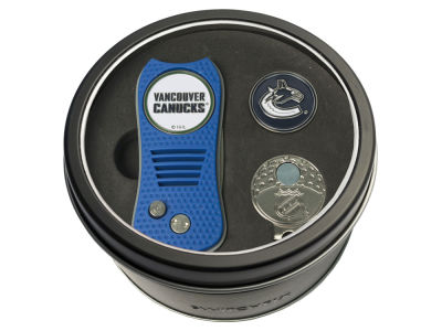 Vancouver Canucks Team Golf Tin Gift Set w/ Divot Tool, Cap Clip, Ball Marker