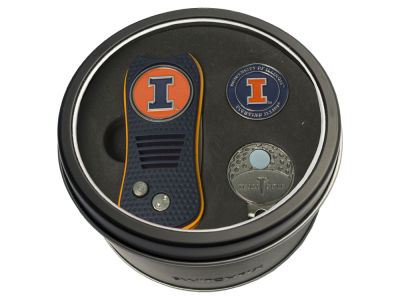 Illinois Fighting Illini Team Golf Tin Gift Set w/ Divot Tool, Cap Clip, Ball Marker