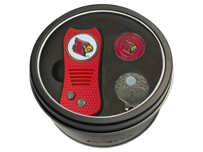 Louisville Cardinals Team Golf Tin Gift Set w/ Divot Tool, Cap Clip, Ball Marker