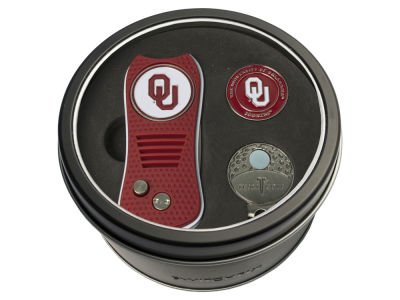 Oklahoma Sooners Team Golf Tin Gift Set w/ Divot Tool, Cap Clip, Ball Marker