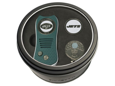 New York Jets Team Golf Tin Gift Set w/ Divot Tool, Cap Clip, Ball Marker