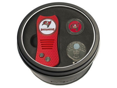 Tampa Bay Buccaneers Team Golf Tin Gift Set w/ Divot Tool, Cap Clip, Ball Marker