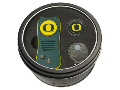 Oregon Ducks Team Golf Tin Gift Set w/ Divot Tool, Cap Clip, Ball Marker
