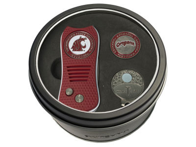 Washington State Cougars Team Golf Tin Gift Set w/ Divot Tool, Cap Clip, Ball Marker