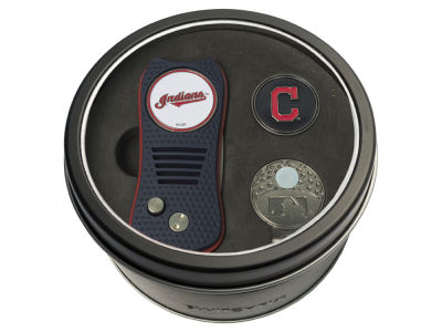 Cleveland Indians Team Golf Tin Gift Set w/ Divot Tool, Cap Clip, Ball Marker